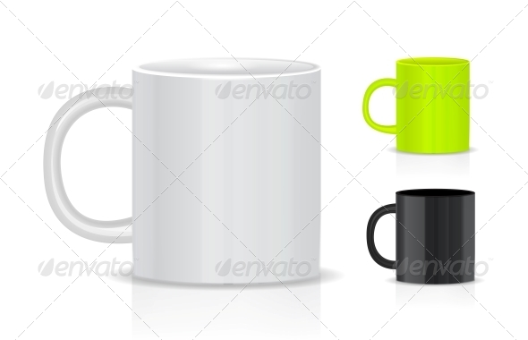 GraphicRiver Cup Isolated on White Background 4155791