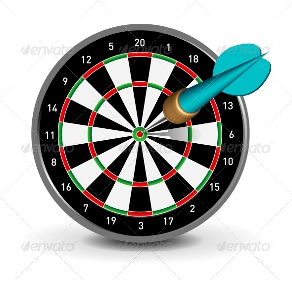 GraphicRiver Dartboard with Dart 4156026
