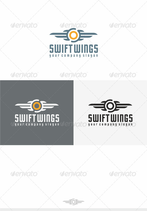 Swift Wings Logo - Crests Logo Templates