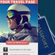Twitter Background for Travel Company - GraphicRiver Item for Sale