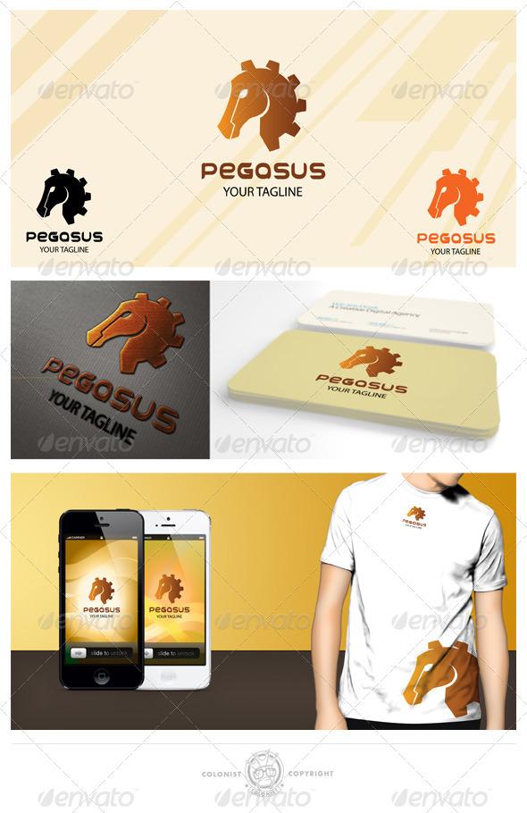 GraphicRiver Pegasus Gear Logo 4156859