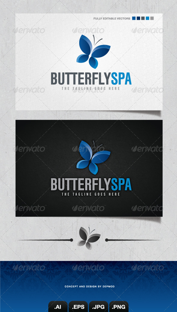 GraphicRiver Butterfly Spa Logo 4157862