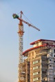 Building crane and building under construction - PhotoDune Item for Sale