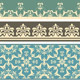 Vector Seamless  Floral Floral Retro Borders - GraphicRiver Item for Sale