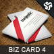 Business Card Design 4 - GraphicRiver Item for Sale