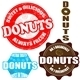 Set of Donuts Stamps and Label - GraphicRiver Item for Sale