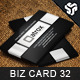 Business Card Design 32 - GraphicRiver Item for Sale