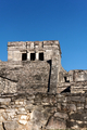 Mayan Architecture before a Clear Blue Sky at Tulum - PhotoDune Item for Sale