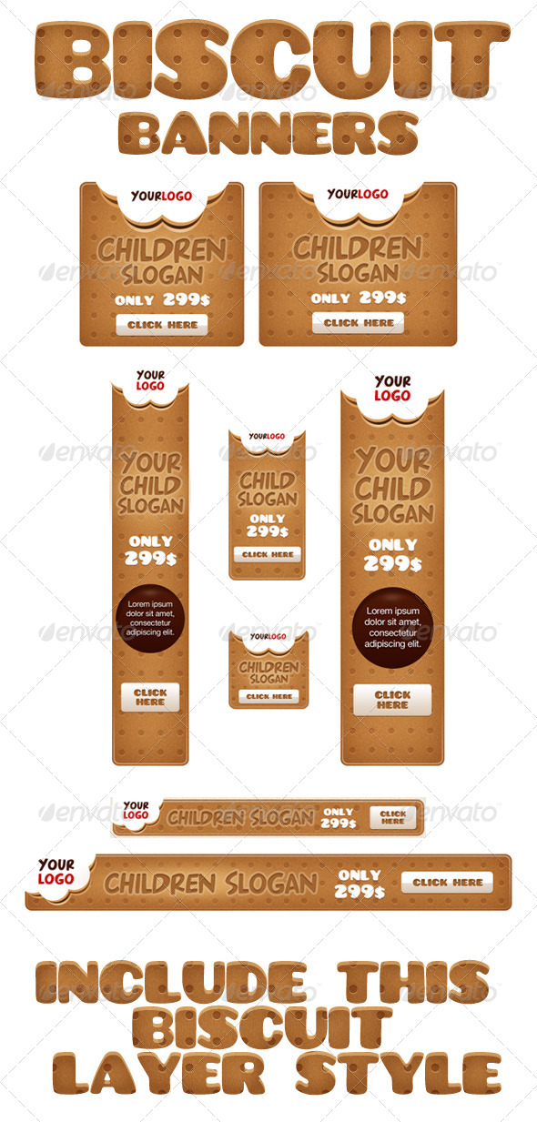 GraphicRiver Biscuit Banners 4160620