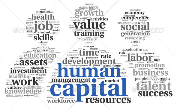 Human capital concept in tag cloud - Stock Photo - Images