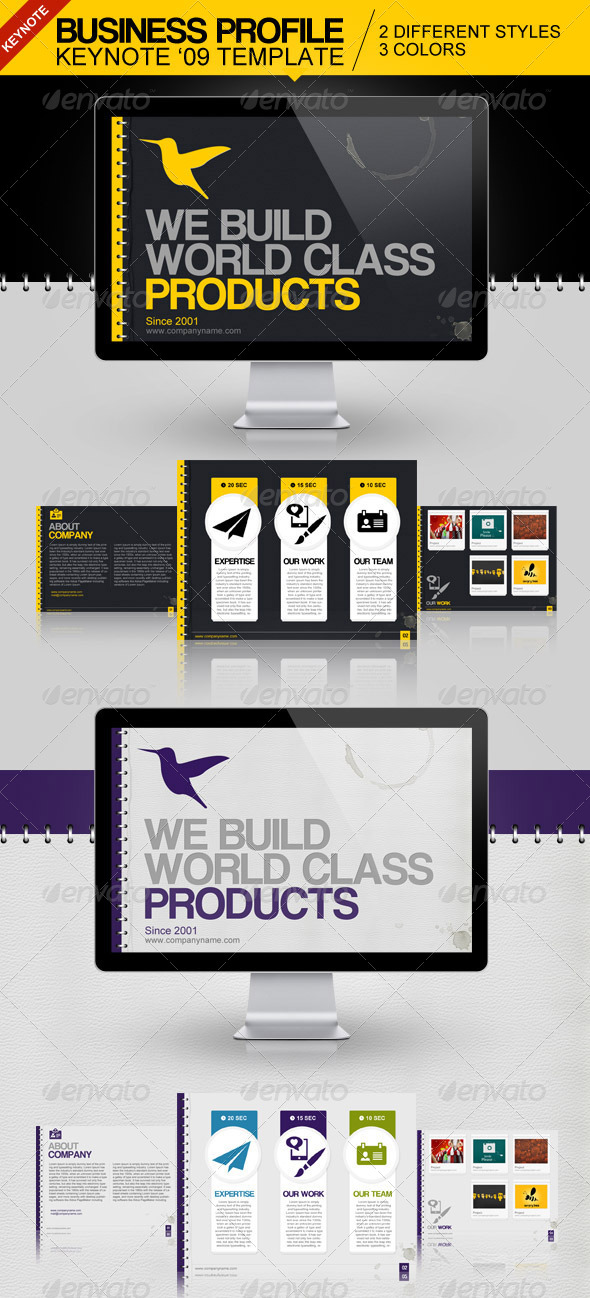 GraphicRiver Business Profile Keynote Template 4162848
