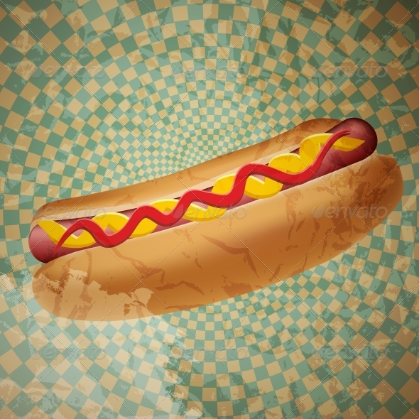 GraphicRiver Realistic Hot Dog Vector Illustration 4163054