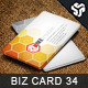 Business Card Design 34 - GraphicRiver Item for Sale