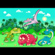 Dinosaurs in the Forest - GraphicRiver Item for Sale