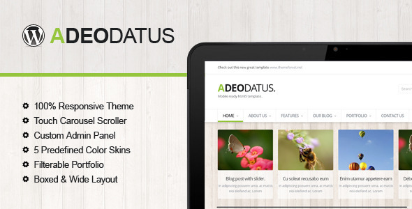 ThemeForest Adeodatus Responsive Business Theme 4166852