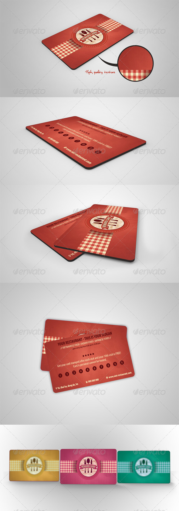 GraphicRiver Retro Restaurant Vip Card 4167835