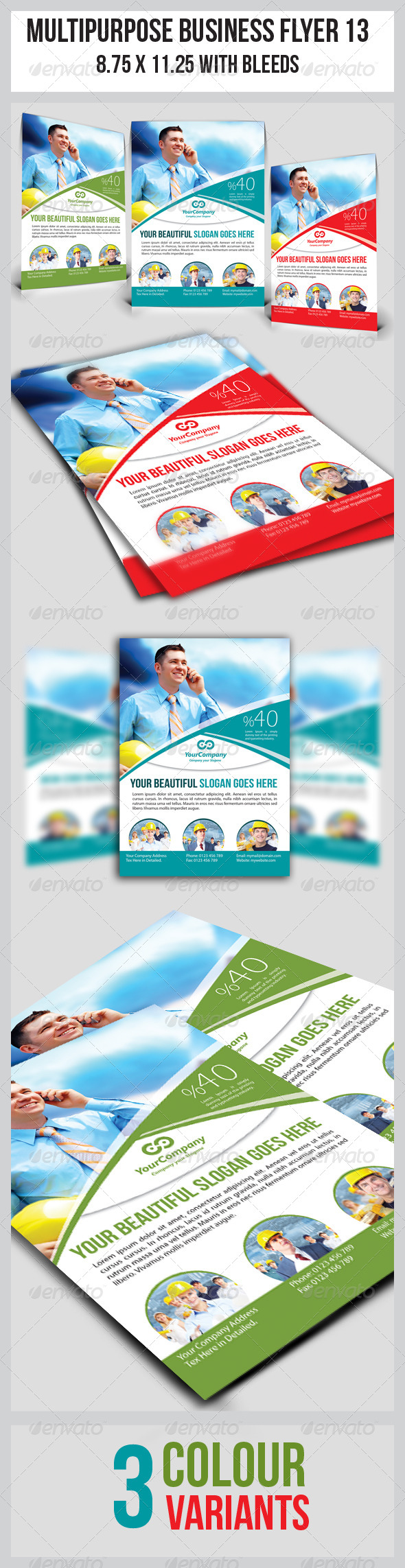 GraphicRiver Multipurpose Business Flyer 13 3809299