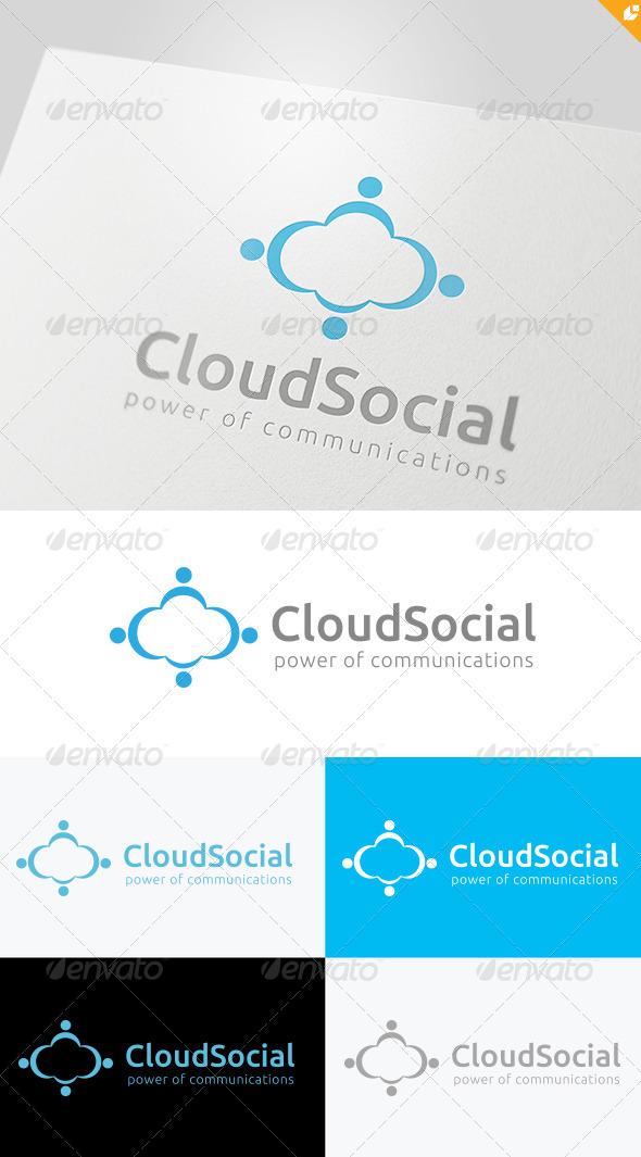 GraphicRiver Cloud Social Logo 4076552