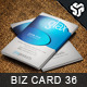 Business Card Design 36 - GraphicRiver Item for Sale