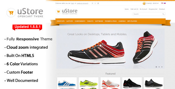 uStore Premium OpenCart Theme - OpenCart eCommerce