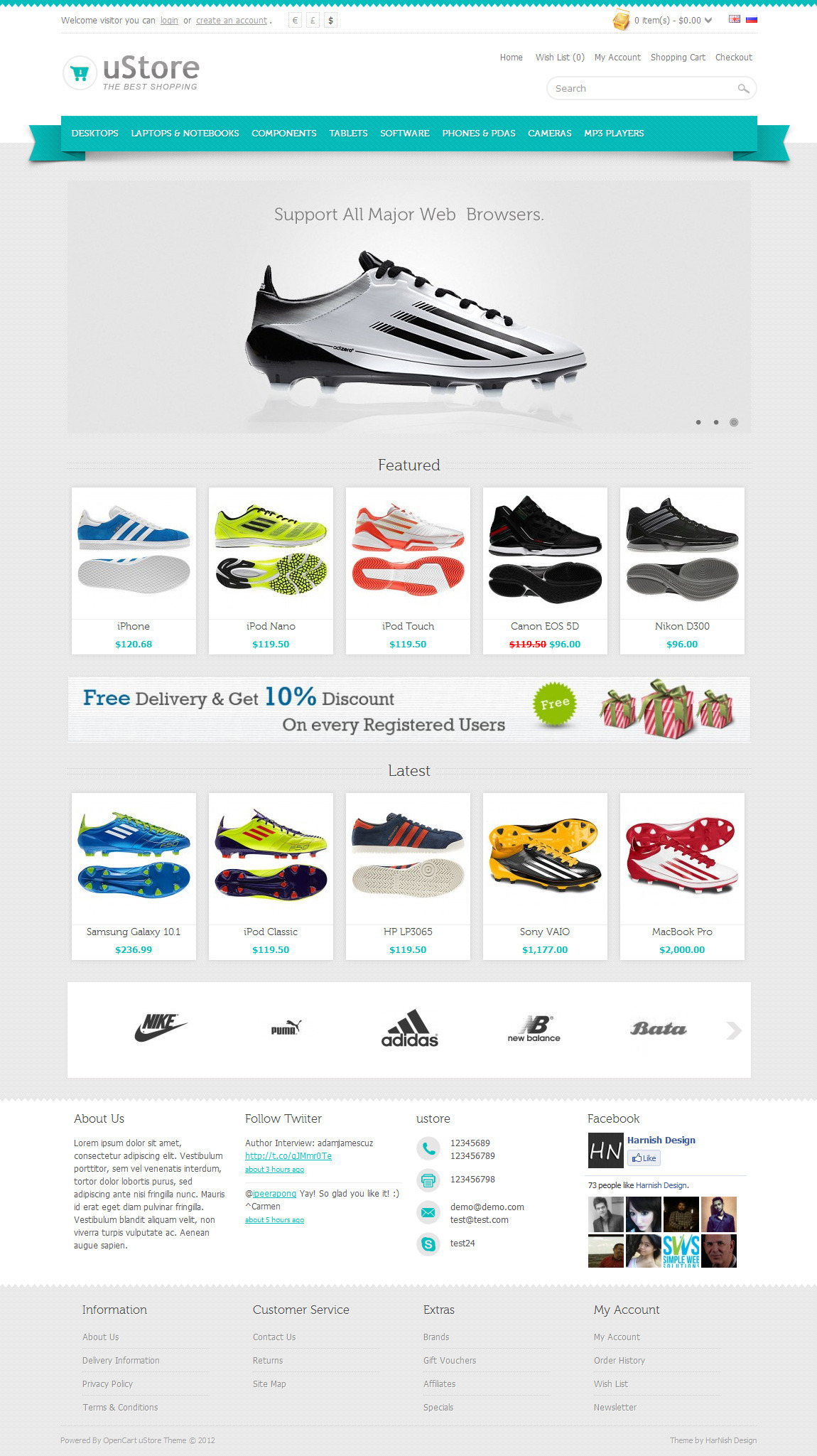 uStore Premium OpenCart Theme