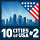 Vector City Skyline Set. USA #2 - GraphicRiver Item for Sale