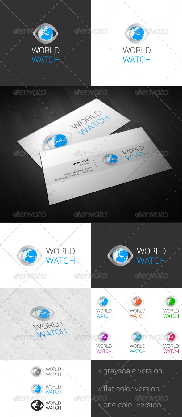 GraphicRiver World Watch Logo 4082271