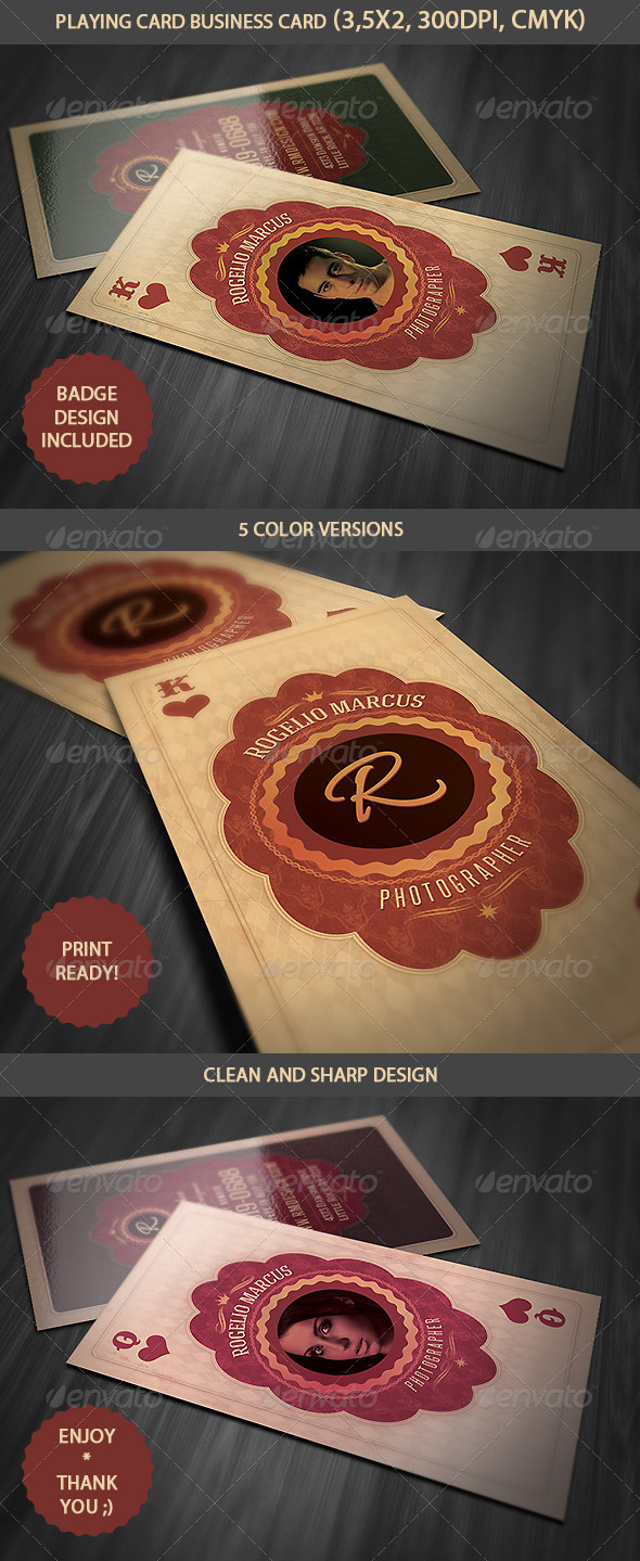 GraphicRiver Vintage Playing Card Business Card v.2 4171754