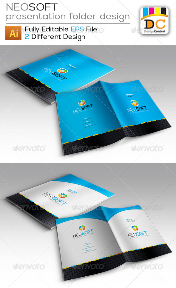GraphicRiver NeoSoft Presentation Folder Design 4171978