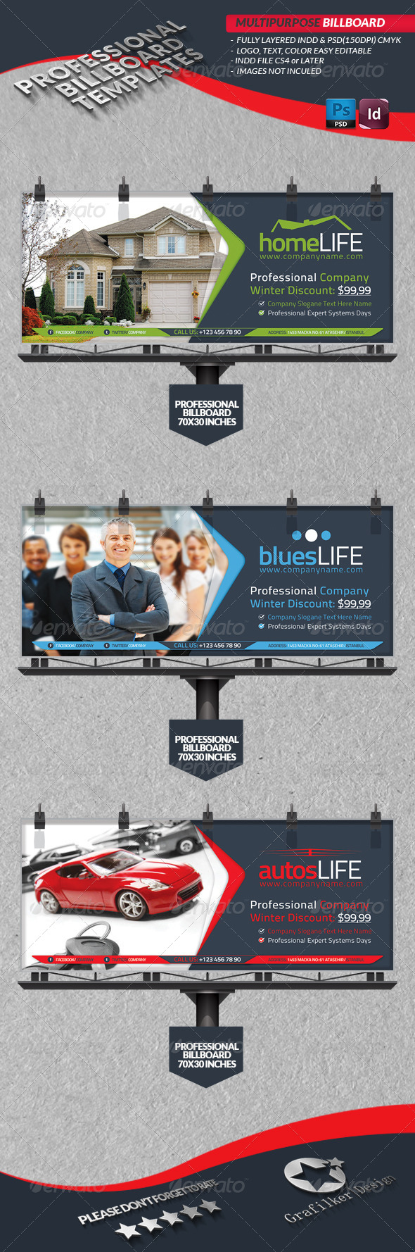 GraphicRiver Multipurpose Business Billbord 4023678