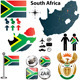 South Africa Map with Regions - GraphicRiver Item for Sale