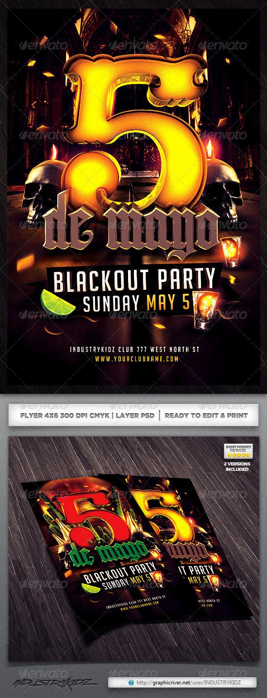 GraphicRiver Cinco De Mayo Party Flyer 4173218