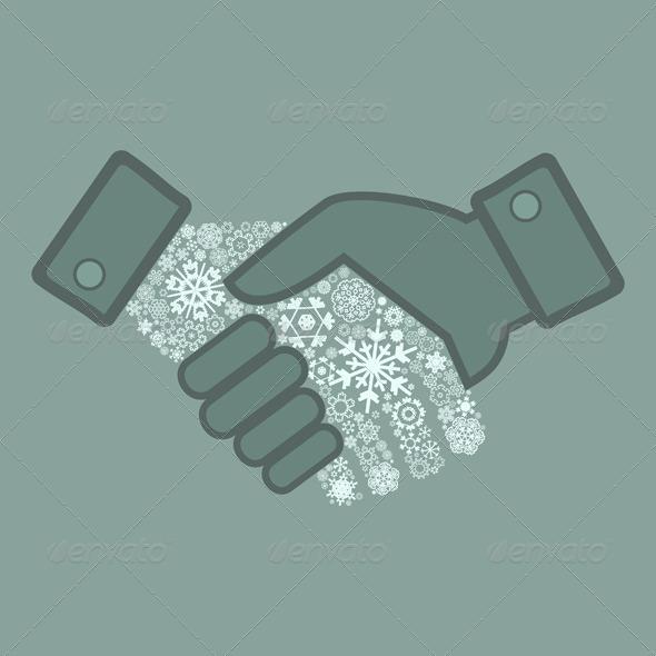 GraphicRiver Snowflake Hand Shake 4174275