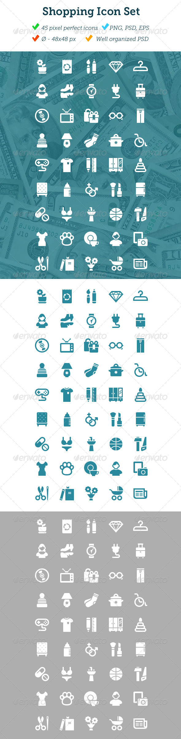 GraphicRiver Shopping Icon Set 4174405 Created: 7