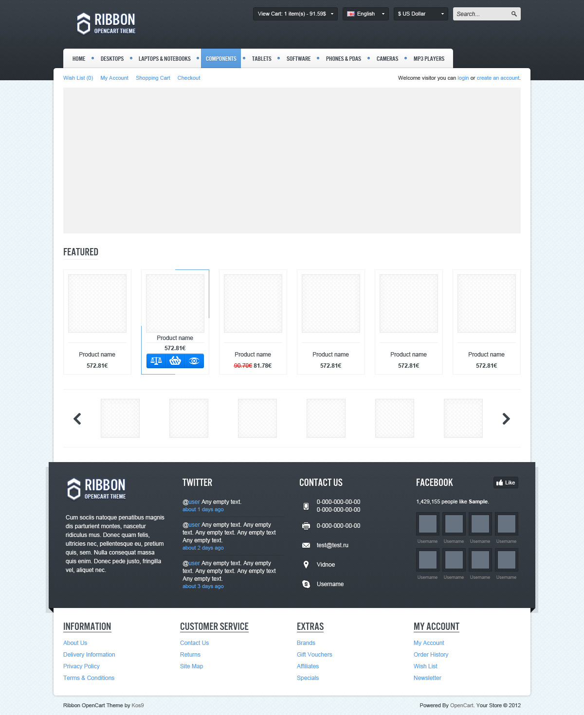 Ribbon OpenCart Theme