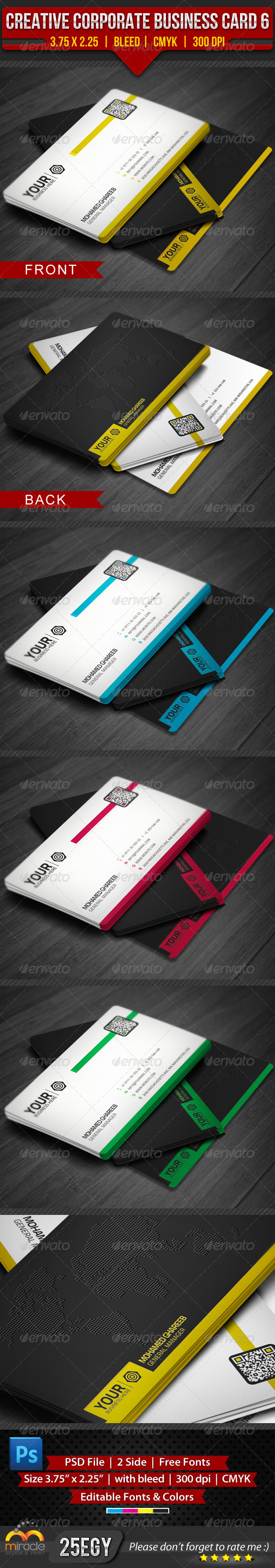GraphicRiver Creative Corporate Business Card 6 4175328