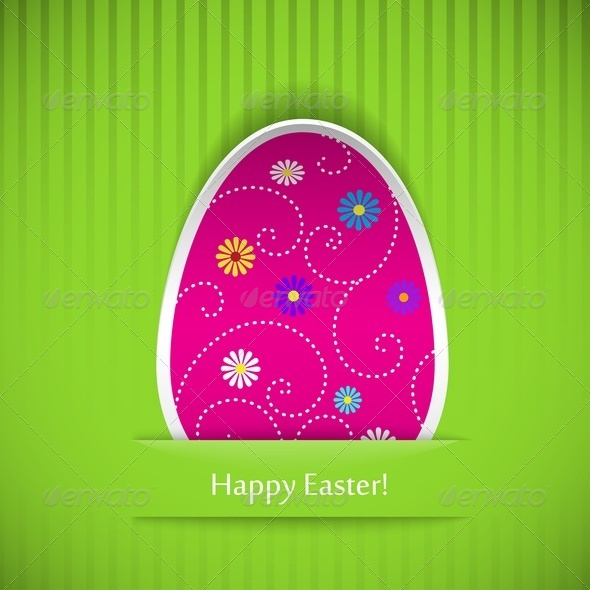 Easter Card with Egg - Miscellaneous Seasons/Holidays