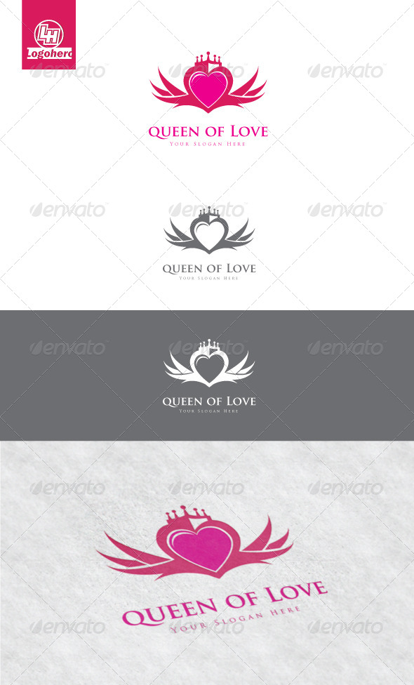 GraphicRiver Queen of Love Logo Template 4175426