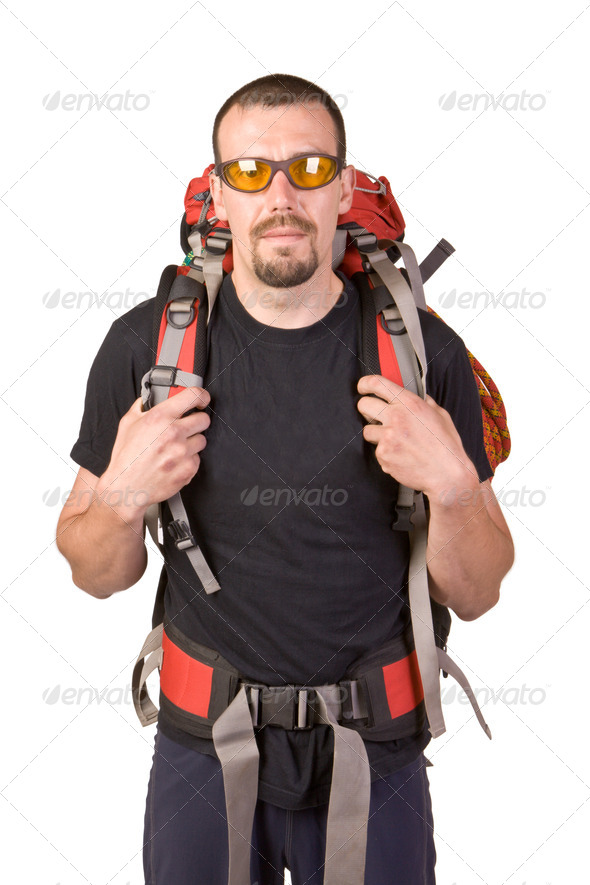 PhotoDune Man wearing spectacles with backpack 4175561