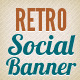 Retro Social Media Web Banner - GraphicRiver Item for Sale
