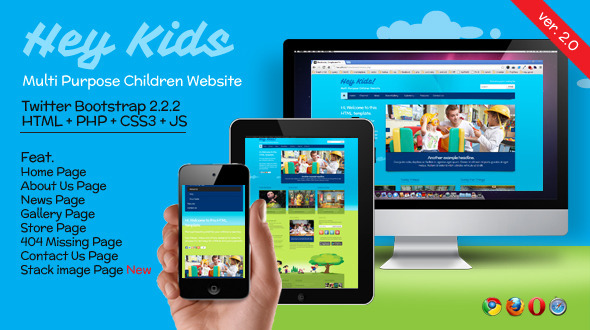 Hey Kids - Responsive Multipurpose Children Web - Children Retail