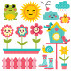 Spring Design Elements Set. - GraphicRiver Item for Sale