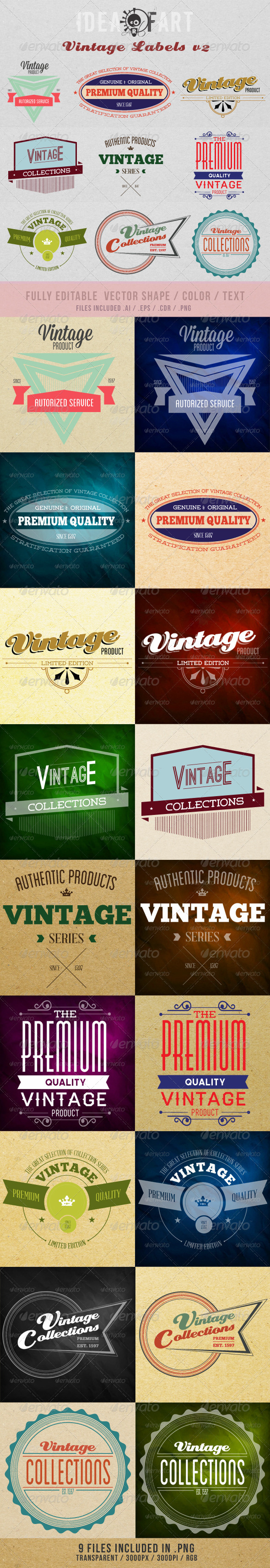 GraphicRiver Vintage Label v2 4176453