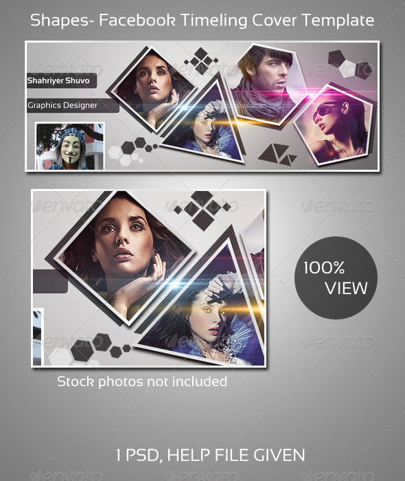 GraphicRiver Shapes FB Timeline Cover 4016675