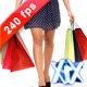 Girl With Shopping Bags 240fps - VideoHive Item for Sale