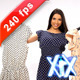 Woman Tries On Dress 240fps - VideoHive Item for Sale