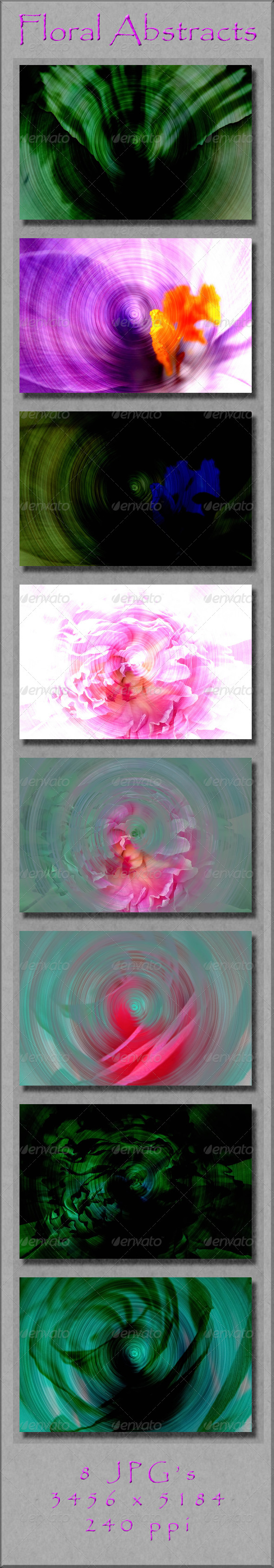 GraphicRiver Floral Abstracts 4176875
