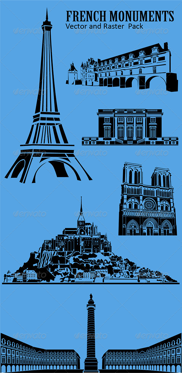 GraphicRiver French Monuments 4177152