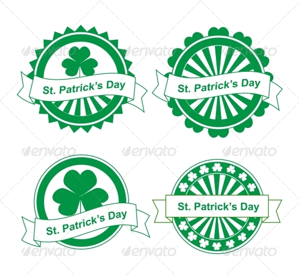 GraphicRiver St Patrick s Day Stamps 4177255