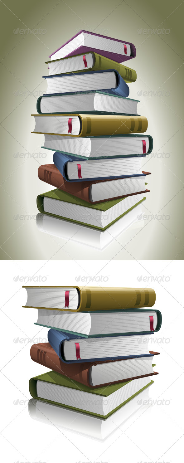 GraphicRiver Stack of Books 4177261